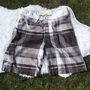 American Eagle Outfitters Plaid Board Shorts